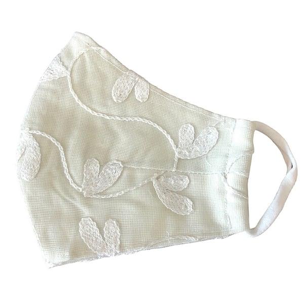 White Flower Mask