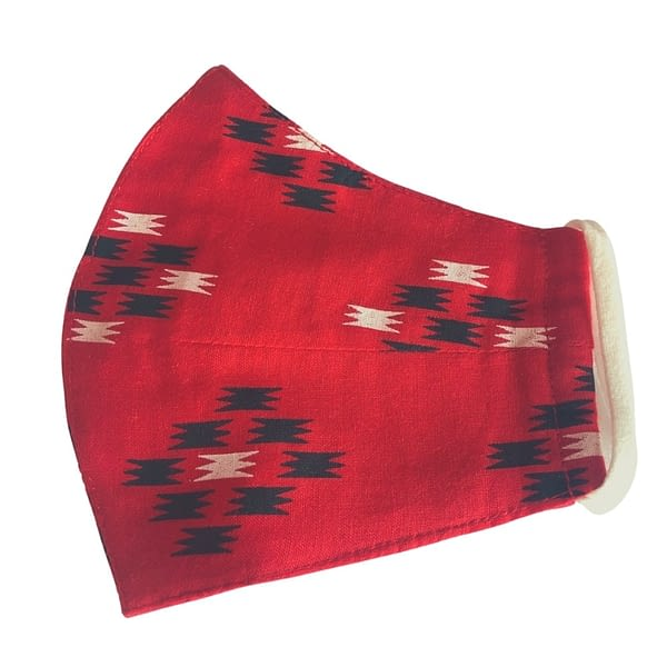 Red Ikat Women's Mask